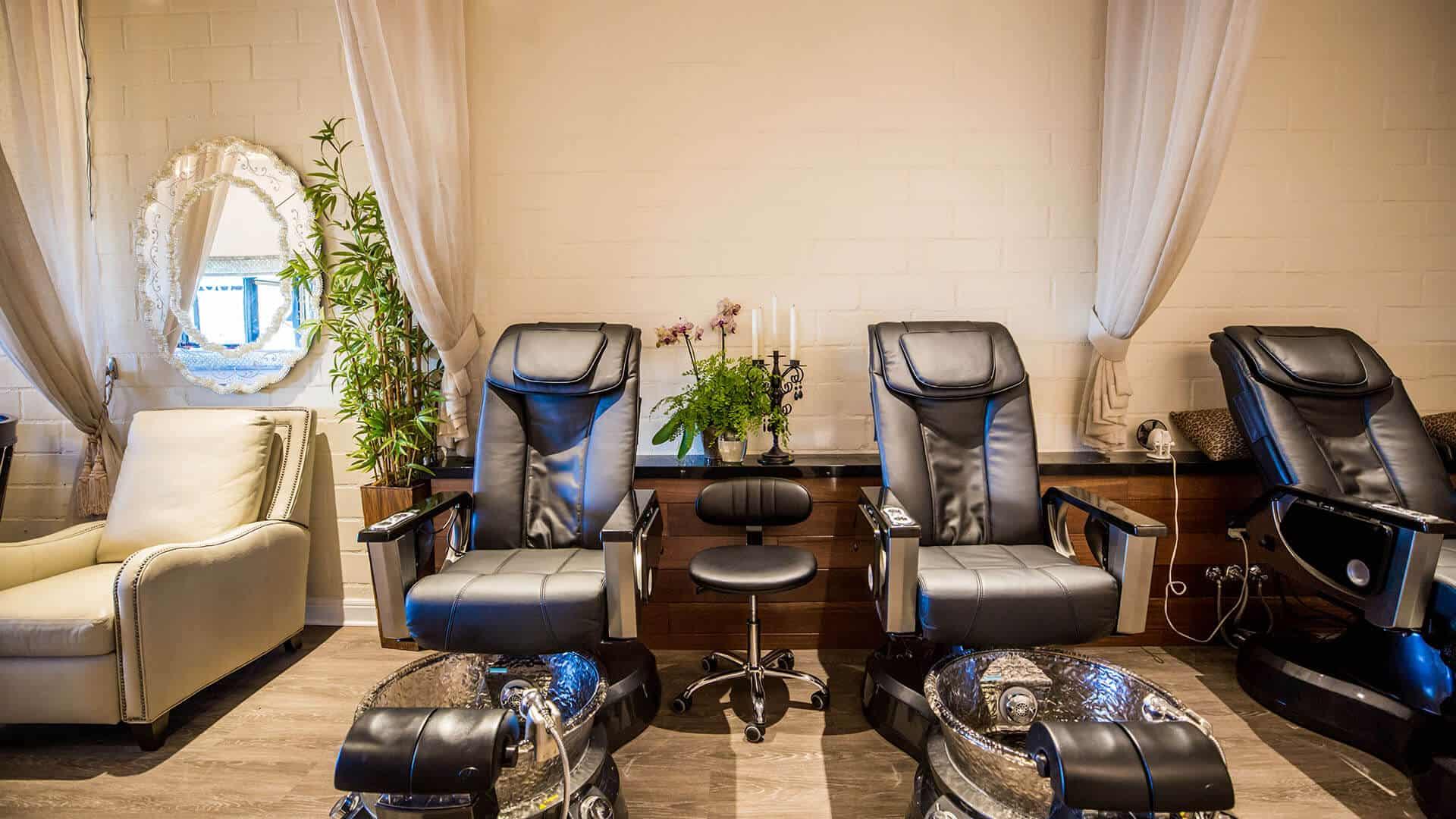 Photo of COCO nailboutique interior leather salon chairs