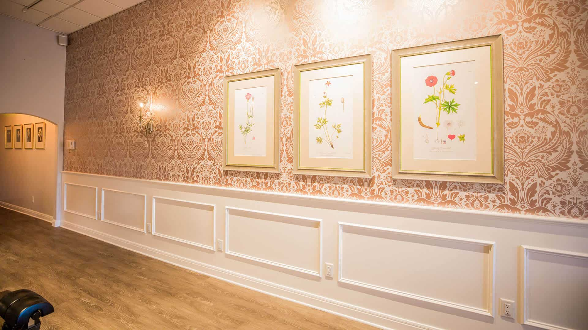 COCO nailboutiqe interior design by DIG53 - wallpaper and custom botanical prints