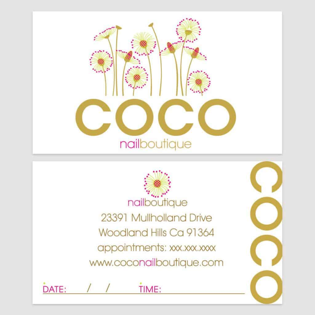 COCO nailboutique business card design by DIG53