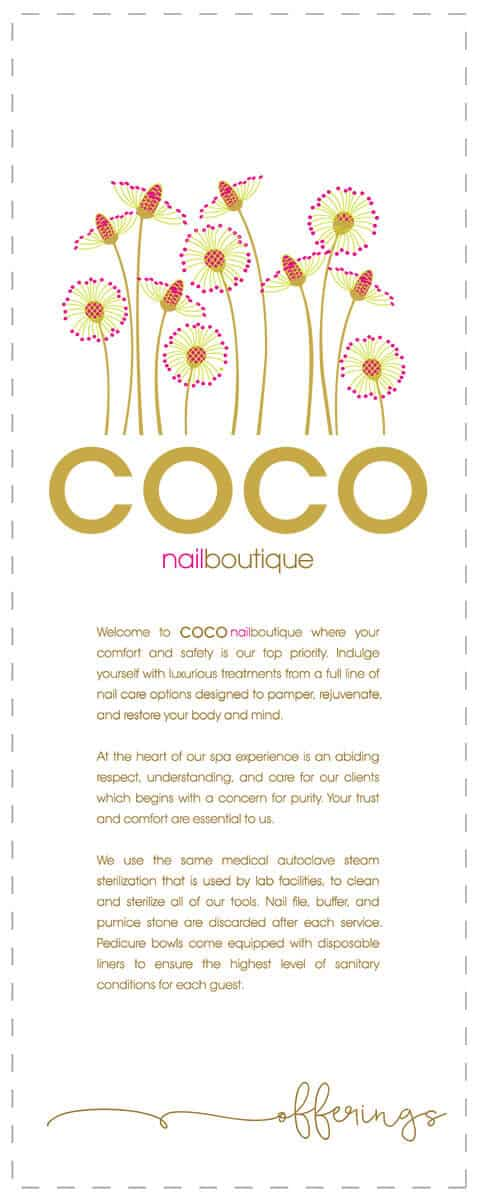 COCO nailboutique services card design front side by DIG53