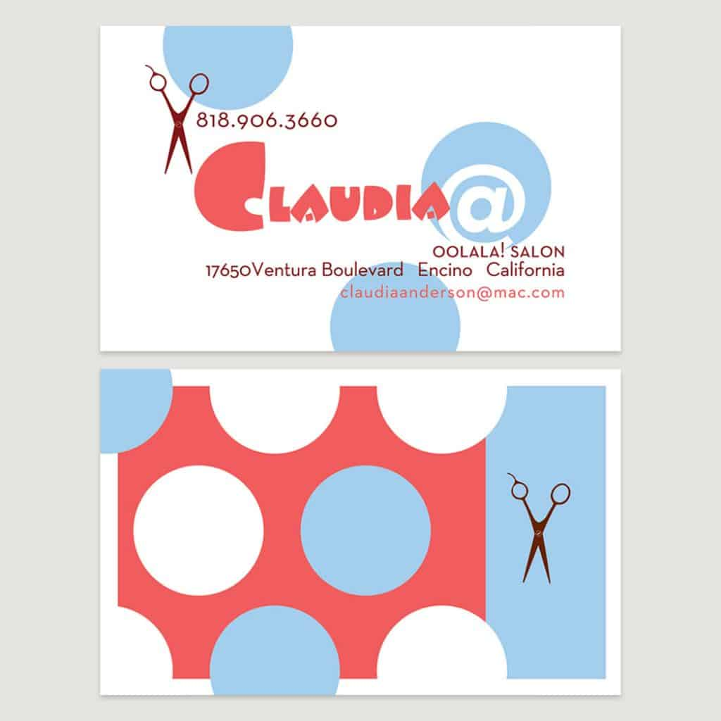 Claudia hair dresser business card design by DIG53