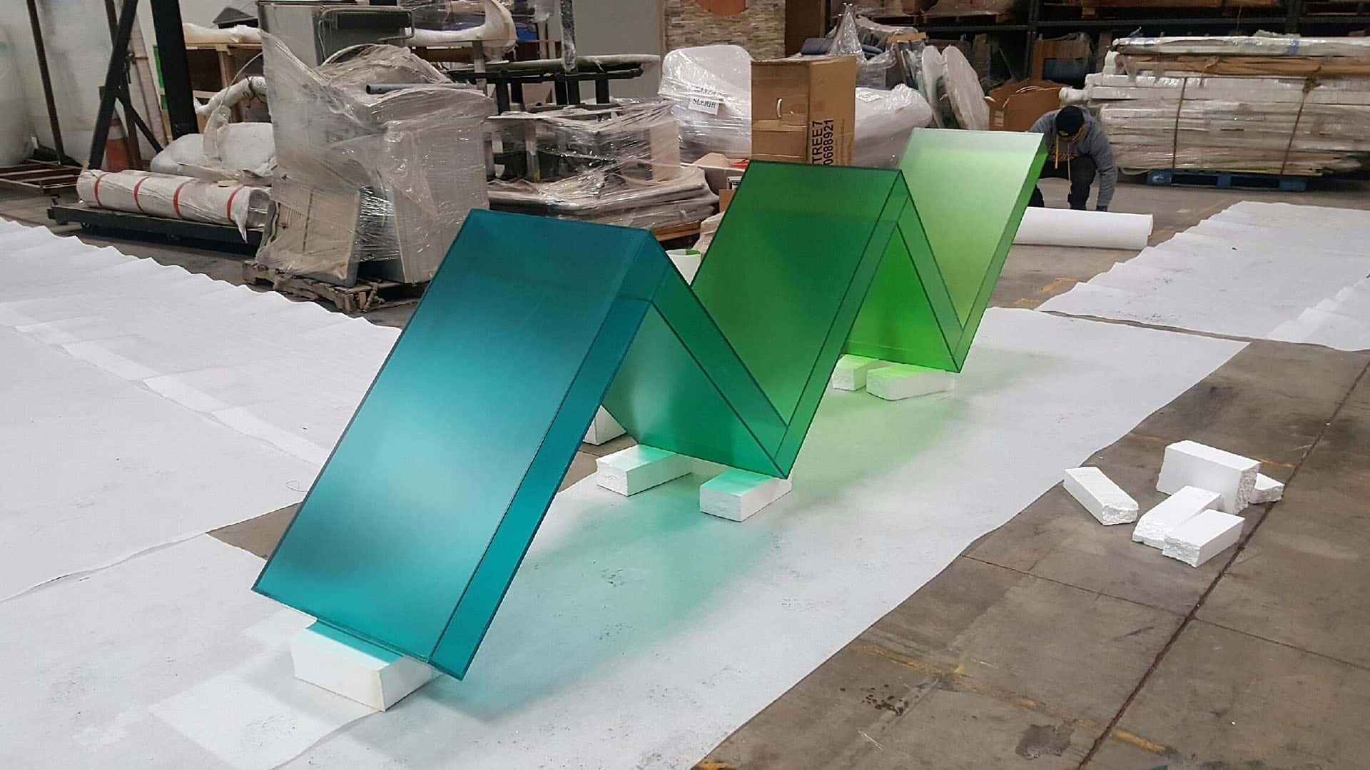 Photo of Brighthouse Zig Zag custom acrylic fabrication by DIG53