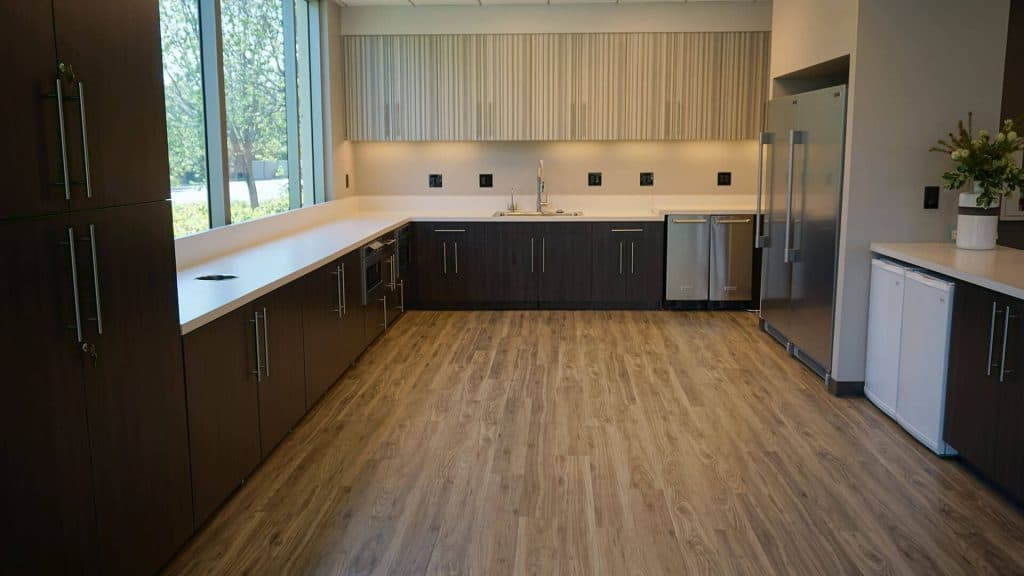 Photo of Westlake Employee Kitchen interior design and wall art by DIG53