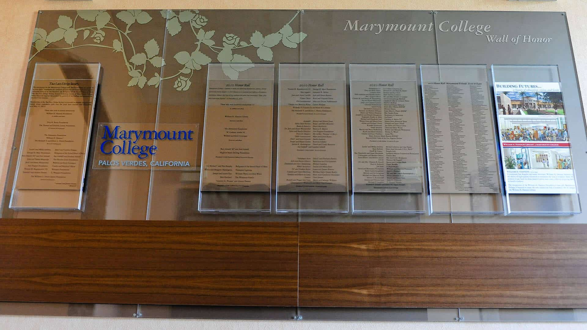 Photo of Marymount College Donors Wall designed by DIG53