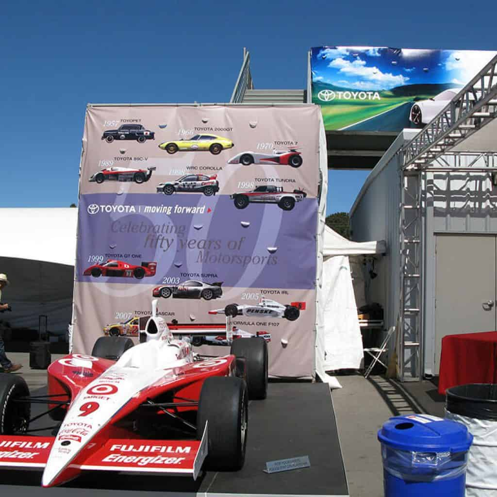 Photo of DIG53 design for 50' Featured Race Car Graphic for Toyota's 50th Anniversary